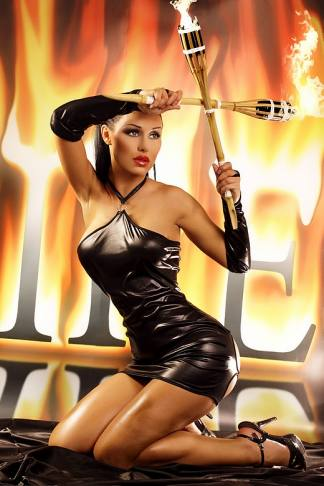 Vestido Erotico 2 Piezas Negro