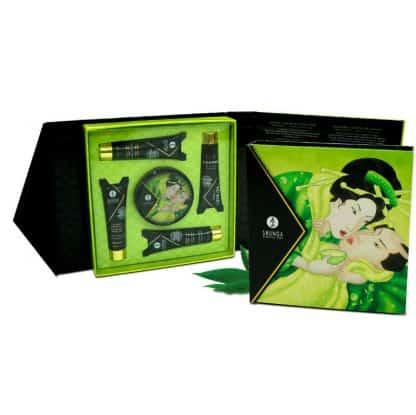 kit cosmetica erotica secretos de gheisa te verde de Shunga estuche