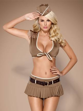 Disfraz 5 Piezas De Obsessive Soldado Caqui Talla L XL
