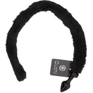 plug anal con cola negro