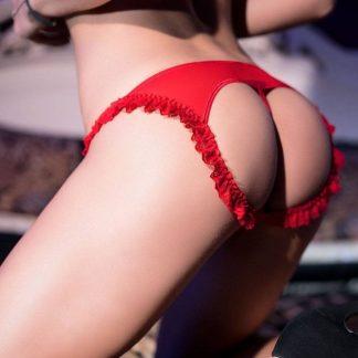 Braguita abierta roja de CHILIROSE talla SM