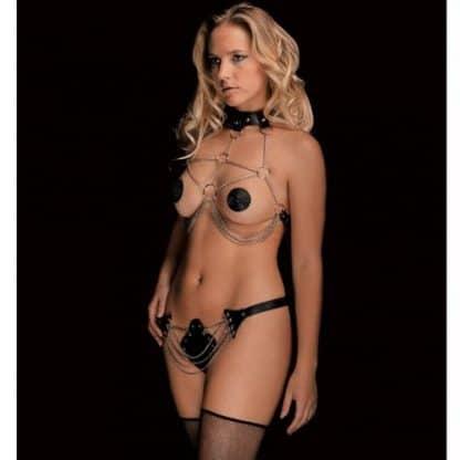 Bikini de piel y metal Angela de OUCH