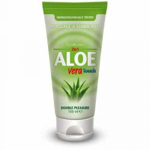 Lubricante 2 En 1 Base De Agua Con Aloe Vera De TOUCH 100ML