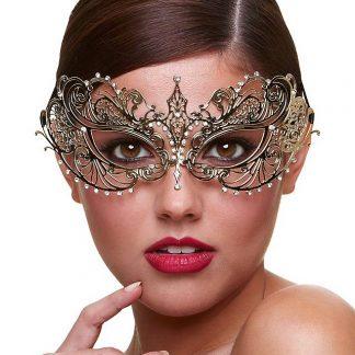 Lujosa mascara dorada metalica MASK HARLOD