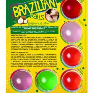 kit de 6 bolas brasileñas con lubricante de sabores de SECRET PLAY