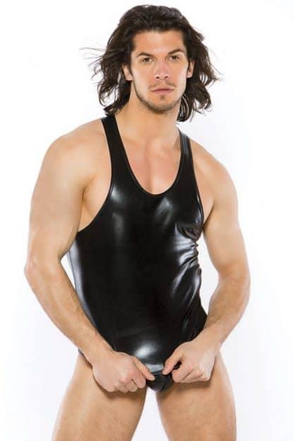 camiseta ajustada sin mangas negra talla unica