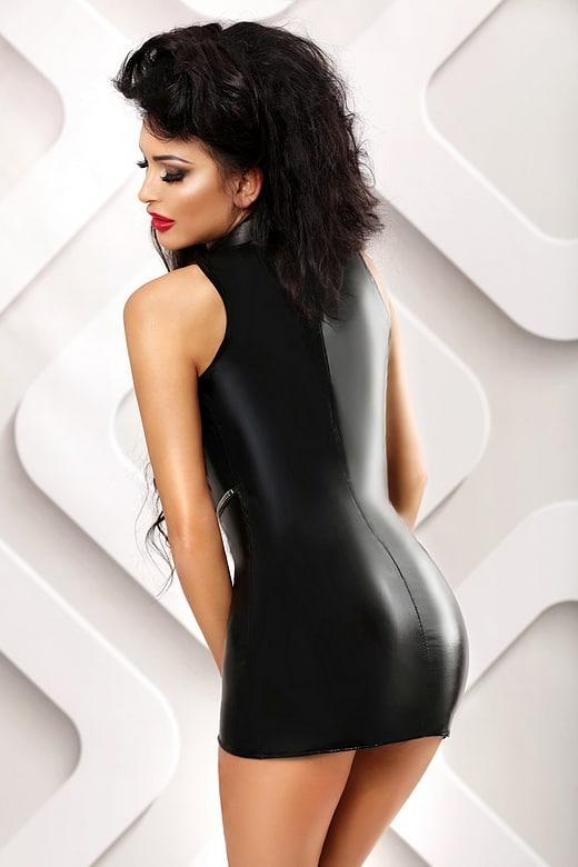 Vestido Sexy Negro Talla L XL Espalda