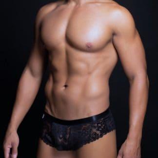 boxer sexy de hombre de encaje negro S M