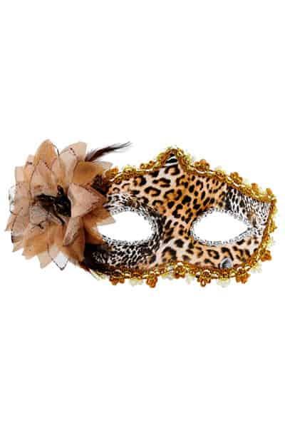 mascara fantasia de leopardo