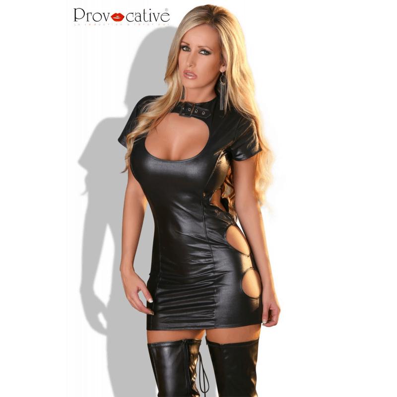 Mini vestido de cuero artificial talla SM 1