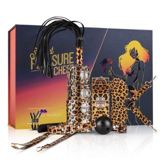 Kit BDSM 9 piezas de leopardo
