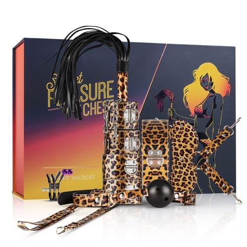 Kit BDSM 9 piezas de leopardo 1