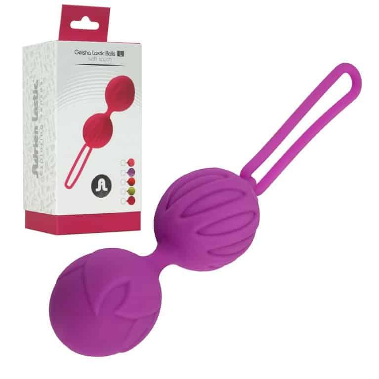 Bolas chinas de silicona color lila 1