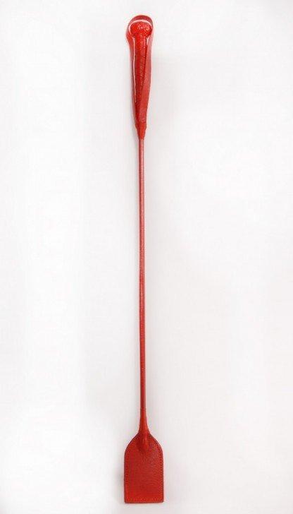 fusta-roja-de-cuero-larga
